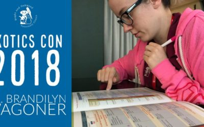 Dr. Brandilyn Wagoner at Exotics Con 2018